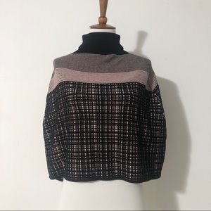 Black and Pink Poncho/Cape